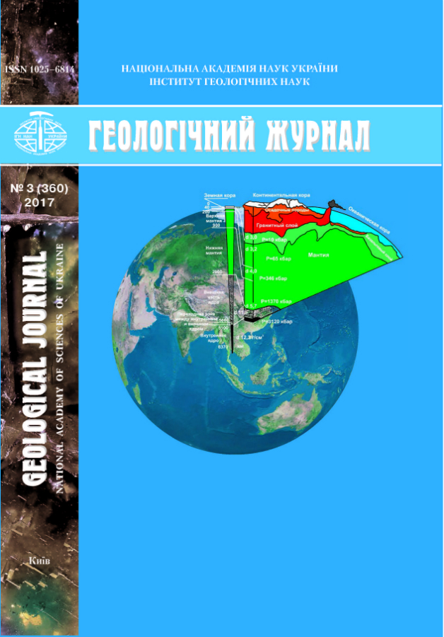 Обкладинка Геологічного журналу